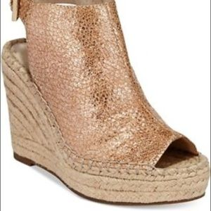 Kenneth Cole Olivia Espadrille Peep-toe Wedges 7.5